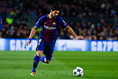 5th December 2017, Camp Nou, Barcelona, Spain; UEFA Champions League football, FC Barcelona versus Sporting Lisbon; Luis Suarez of FC Barcelona controls the ball