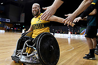 Ryley Batt (AUS) vs Japan<br /> Australian Wheelchair Rugby Team<br /> 2018 IWRF WheelChair Rugby <br /> World Championship / Day 4<br /> Sydney  NSW Australia<br /> Wednesday 8th August 2018<br /> © Sport the library / Jeff Crow / APC