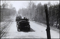 BNPS.co.uk (01202 558833)<br /> Pic: Bellmans/BNPS<br /> <br /> Behind the lines Germany 1945 - Behind enemy lines the heavily armed jeeps gave them great manouverabilty and suprise.<br /> <br /> A fascinating trove of SAS records including some of the first photographs of the elite force which have never been seen before has been unearthed. <br /> <br /> The extensive assortment, also including medals and documents, was accumulated by war hero Lance Corporal William James Cooke at the end of World War Two. <br /> <br /> Remarkable images of Cooke's previously unrevealed wartime exploits show him serving behind enemy lines in occupied France and assisting with the liberation of Norway. <br /> <br /> His accomplishments have come to light after a family member presented the bequeathed collection to Hampshire-based auctioneer Bellmans, which will sell it tomorrow.