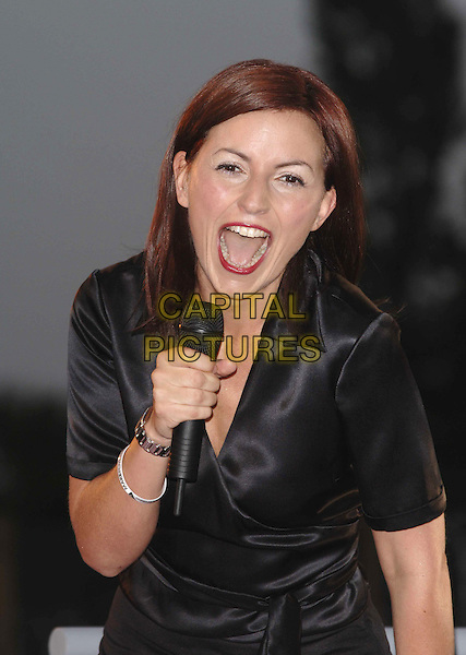 "DAVINA McCALL.""Big Brother 6"" House re-opens,.Elstree Studios, Hertfordshire,.27th May 2005..half length funny mouth open.Ref: PL.www.capitalpictures.com.sales@capitalpictures.com.©Capital Pictures"