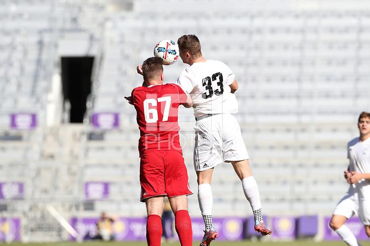 Orlando, Florida - Wednesday January 17, 2018: Cory Brown and Gordon Wild. Match Day 3 of the 2018 adidas MLS Player Combine was held Orlando City Stadium.