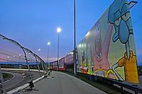 Sponge Bob Billboard at sunset.