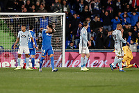7th March 2020; Coliseum Alfonso Perez, Madrid, Spain; La Liga Football, Club Getafe Club de Futbol versus Celta Vigo; Mauro Arambarri (Getafe CF)  frustrated as he misses a good goal scoring chance