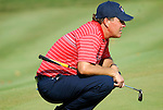 USA Team player Phil Mickelson lines up his putt on the 16th green during the Singles on the Final Day of the Ryder Cup at Valhalla Golf Club, Louisville, Kentucky, USA, 21st September 2008 (Photo by Eoin Clarke/GOLFFILE)