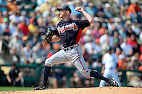 Atlanta Braves pitcher Jonny Venters #39 during a Spring Training game against the Detroit Tigers at Joker Marchant Stadium on February 27, 2013 in Lakeland, Florida.  Atlanta defeated Detroit 5-3.  (Mike Janes/Four Seam Images)