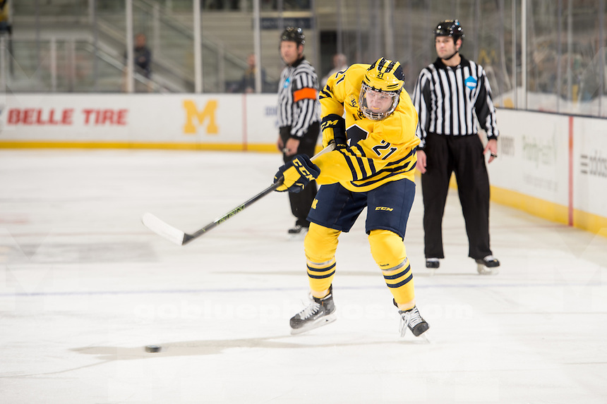 10/31/15 The University of Michigan hockey team falls to, 4-0, Robert Morris at Yost Ice Arena in Ann Arbor, MI.
