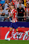 Victor Machin 'Vitolo' of Atletico de Madrid celebrates goal during La Liga match between Atletico de Madrid and SD Eibar at Wanda Metropolitano Stadium in Madrid, Spain.September 01, 2019. (ALTERPHOTOS/A. Perez Meca)