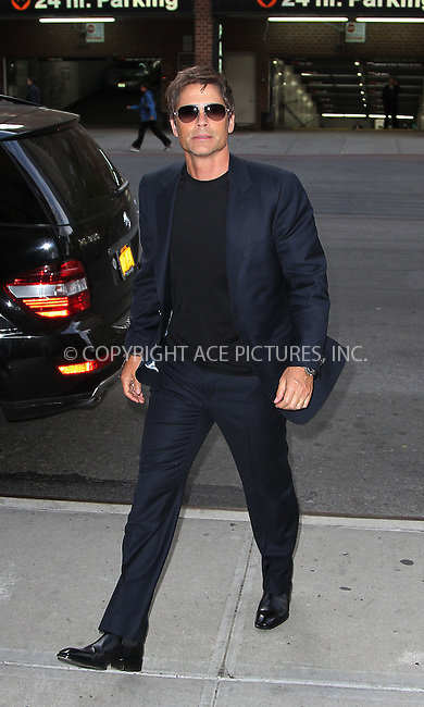 WWW.ACEPIXS.COM . . . . .  ....April 25 2012, New York City....Actor Rob Lowe arriving at a downtown hotel on April 25 2012 in New York City....Please byline: Zelig Shaul - ACE PICTURES.... *** ***..Ace Pictures, Inc:  ..Philip Vaughan (212) 243-8787 or (646) 769 0430..e-mail: info@acepixs.com..web: http://www.acepixs.com