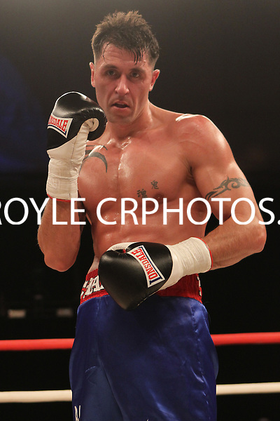 Karl Bell vs James Oliphant in a boxing contest at the Ponds Forge Arena, Sheffield, Yorkshire, promoted by Hennessy Sports - 23/03/14 - MANDATORY CREDIT: Chris Royle/TGSPHOTO - MaxiNutrition Knockout