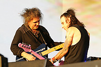 LONDON, ENGLAND - JULY 7: Robert Smith and Simon Gallup of 'The Cure' performing at British Summer Time, Hyde Park on July 7, 2018 in London, England.<br /> CAP/MAR<br /> &copy;MAR/Capital Pictures
