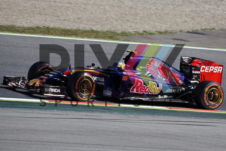 Barcelona, 10.05.15, Motorsport, Formel 1 GP Spanien 2015, Freies Training : Carlos Sainz (Toro Rosso STR10, #55)<br /> <br /> Foto &copy; P-I-X.org *** Foto ist honorarpflichtig! *** Auf Anfrage in hoeherer Qualitaet/Aufloesung. Belegexemplar erbeten. Veroeffentlichung ausschliesslich fuer journalistisch-publizistische Zwecke. For editorial use only.