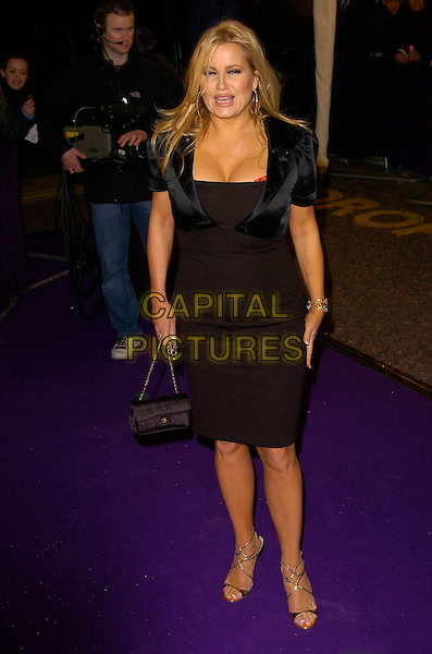 JENNIFER COOLIDGE.British Comedy Awards 2007, London Studios, South Bank, London, England. .December 5th 2007.full length black dress jacket cropped bag purse .CAP/CAN.©Can Nguyen/Capital Pictures