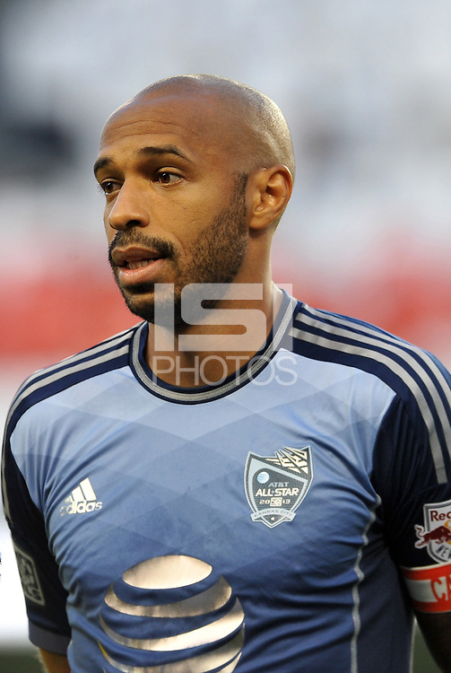 Sporting Park, Kansas City, Kansas, July 31 2013:<br /> Thierry Henry (14) forward MLS All-Stars .<br /> MLS All-Stars were defeated 3-1 by AS Roma at Sporting Park, Kansas City, KS in the 2013 AT &amp; T All-Star game.