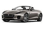 Stock pictures of low aggressive front three quarter view of a 2018 Jaguar F-Type R Dynamic 2 Door Convertible