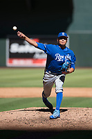 Kansas City Royals relief pitcher Julio Pinto (68) delivers a pitch to the plate during an Instructional League game against the Arizona Diamondbacks at Chase Field on October 14, 2017 in Scottsdale, Arizona. (Zachary Lucy/Four Seam Images)