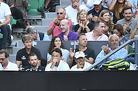 January 27, 2017: Rafael Nadal of Spain's player box and girlfriend Maria Francisca Perello prior to a semifinals match against Grigor Dimitrov of Bulgaria on day 12 of the 2017 Australian Open Grand Slam tennis tournament in Melbourne, Australia. Photo Sydney Low