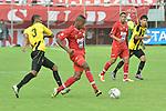 Alianza Petrolera venció este miércoles por la tarde 2 goles por 1 al América de Cali en el Parque Estadio Sur de Envigado, en el juego de ida de la gran final del Torneo de Ascenso 2012.