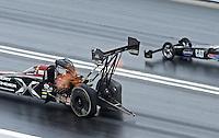 Apr. 7, 2013; Las Vegas, NV, USA: NHRA top fuel dragster driver Spencer Massey during the Summitracing.com Nationals at the Strip at Las Vegas Motor Speedway. Mandatory Credit: Mark J. Rebilas-