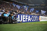 FUSSBALL   EUROPA LEAGUE   SAISON 2011/2012  ACHTELFINALE FC Schalke 04 - Twente Enschede                         15.03.2012 Sportfotografen arbeiten hinter ein UEFA.com Bande