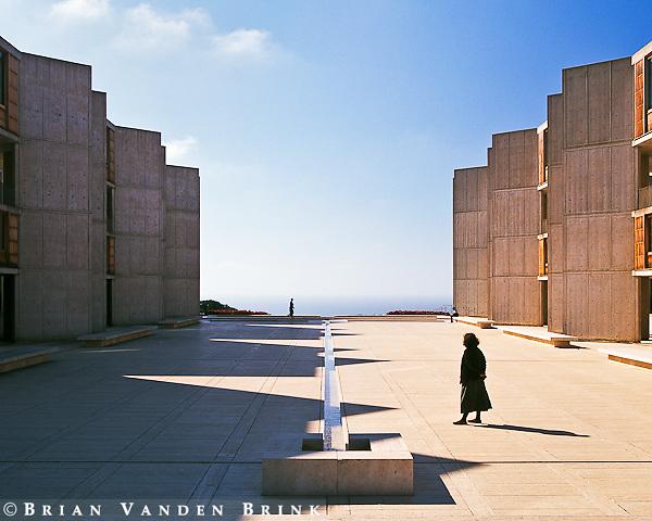 Kathleen at the Salk Institute CourtyardBuilt 1965La Jolla, CaliforniaLouis Kahn, Architect