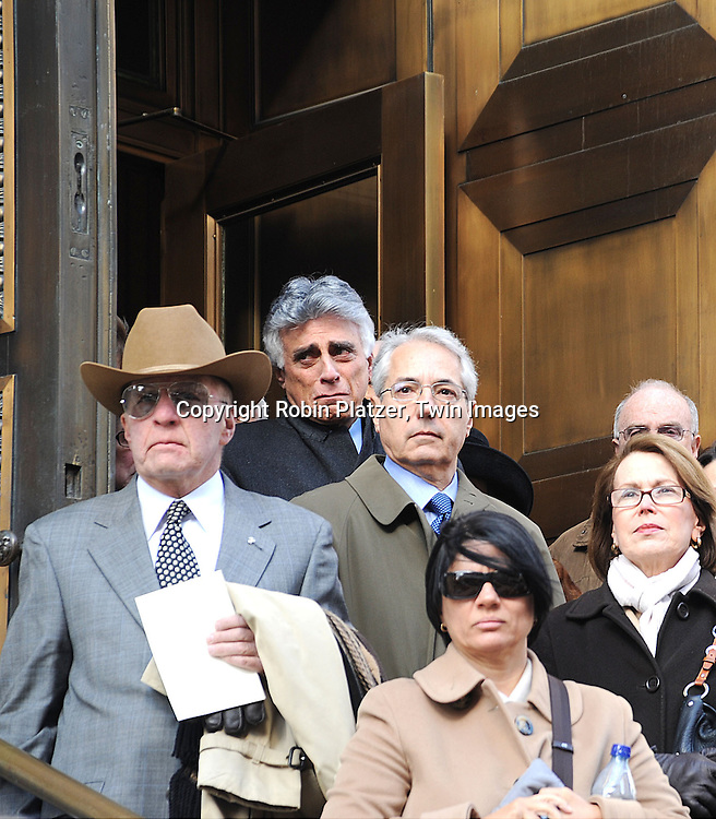 Andrew Stein crying in the back after the funeral..atThe Funeral of James Brady on January 31, 2009 at The Church of Saint Ignatiius Loyola in New York City. ....Robin Platzer, Twin Images