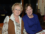 Kathy Corrigan and Mary Hanratty pictured at Collon senior citizens christmas party at Watters lounge. Photo:Colin Bell/pressphotos.ie