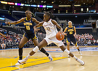 LOS ANGELES, CA - March 10, 2012: Forward Chiney Ogwumike (13) for the Stanford University woman's basketball team competes against Cal during the PAC 12 Woman's Basketball Championship Game at the Staples Center in Los Angeles California. Final score Stanford won 77-62.