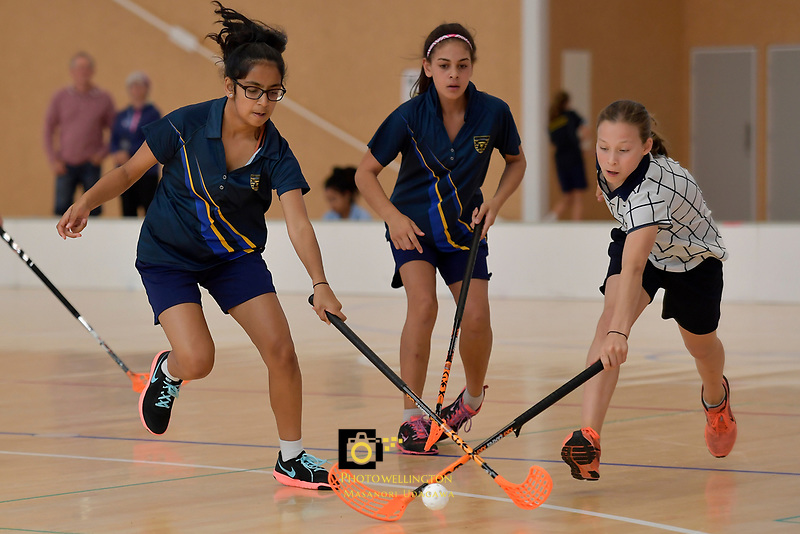 NZ Secondary School Floorball Championships at Walter Nash Centre, Lower Hutt, New Zealand on Friday 31 March 2017.<br /> Photo by Masanori Udagawa<br /> www.photowellington.photoshelter.com.