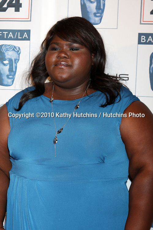 Gabourey Sidibe.arriving at the BAFTA/LA Awards Season Tea Party 2010.Beverly Hills Hotel.Beverly Hills, CA.January 16, 2010.©2010 Kathy Hutchins / Hutchins Photo....