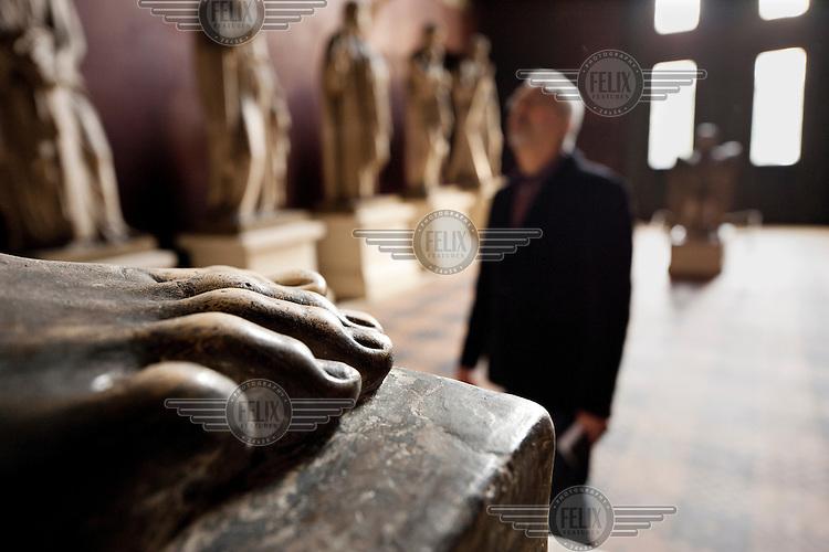 Alan Hollinghurst, a British novelist, looks at art in Thorvaldsen Museum in Copenhagen, Denmark.