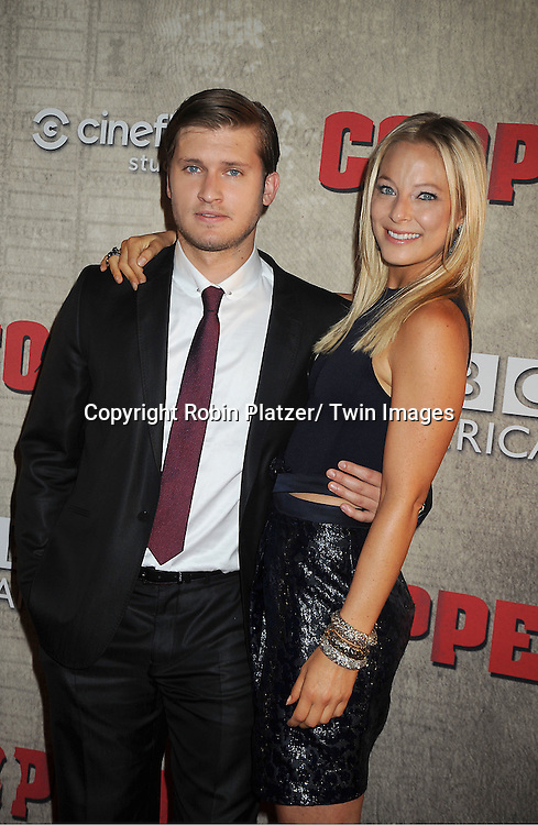 "actor Tom Weston-Jones and Anastasia Griffith  attends the BBC America premiere of The New York 1860's Crime Drama ""Copper"" on August 15, 2012 at MoMa in New York City."