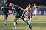 24 June 2009: Stephanie Cox (14) of the Los Angeles Sol pushes past  Lori Chalupny (left) of Saint Louis Athletica.  Saint Louis Athletica was defeated by the visiting Los Angeles Sol 1-2 in a regular season Women's Professional Soccer game at AB Soccer Park, in Fenton, MO.