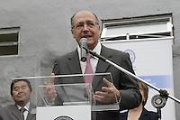 FOTO EMBARGADA PARA VEICULOS INTERNACIONAIS - SAO PAULO, SP, 26 DE NOVEMBRO 2012  - AGENDA GERALDO ALCKMIN - O governador Geraldo Alckmin participa da inauguração do Instituto de Pesquisa da Santa Casa, na manha dessa segunda-feira, 26, regiao central da capital paulista - FOTO LOLA OLIVEIRA - BRAZIL PHOTO PRESS