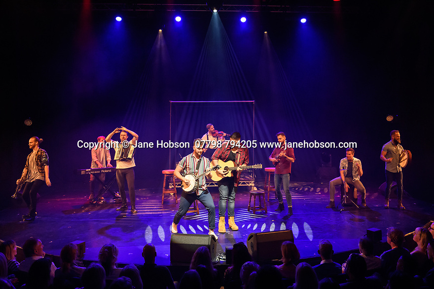 Assembly Festival Gala Launch at the Edinburgh Festival Fringe. Assembly presents a showcase of a number of productions and acts to launch their Fringe 2019, at the Assembly Hall, Edinburgh. Picture shows: Choir of Man.