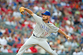 Chicago Cubs relief pitcher Travis Wood (37) pitches in the tenth inning against the Washington Nationals at Nationals Park in Washington, D.C. on Wednesday, June 15, 2016.  The Nationals won the game 5 - 4 in 12 innings.<br /> Credit: Ron Sachs / CNP