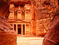 The Treasury (AlKhazneh), Two Thousand Year Old Nabataean City, Petra National Park, Jordon