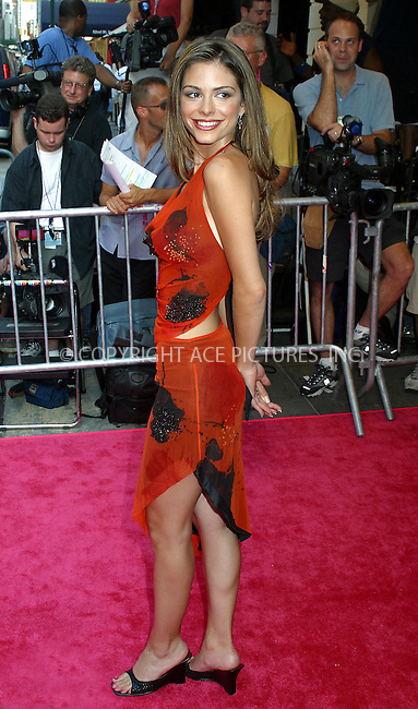 """Opening night for Broadway's newest and hottest show, """"Hairspray"""" at Neil Simon Theatre. New York, August 15, 2002. Pictured is Maria Menounos who is """"Entertainment Tonight"""" Correspondent. Please byline: Alecsey Boldeskul/NY Photo Press.   ..*PAY-PER-USE*      ....NY Photo Press:  ..phone (646) 267-6913;   ..e-mail: info@nyphotopress.com"""