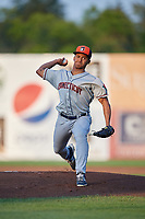 Connecticut Tigers starting pitcher Dane Myers (54) delivers a pitch during a game against the Auburn Doubledays on August 10, 2017 at Falcon Park in Auburn, New York.  Connecticut defeated Auburn 4-1.  (Mike Janes/Four Seam Images)
