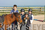EQUESTRIAN FUN: Pictured at The Tonevane Equestrian Centre on Saturday morning were Patrick Dunne (Abbeydorney), Sean O'Mahony (Tralee), Tess and Carrie Dowling (Castlegregory).   Copyright Kerry's Eye 2008