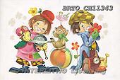Alfredo, CHILDREN, paintings, BRTOCH11343,#K# Kinder, niños, nostalgisch, nostálgico, illustrations, pinturas