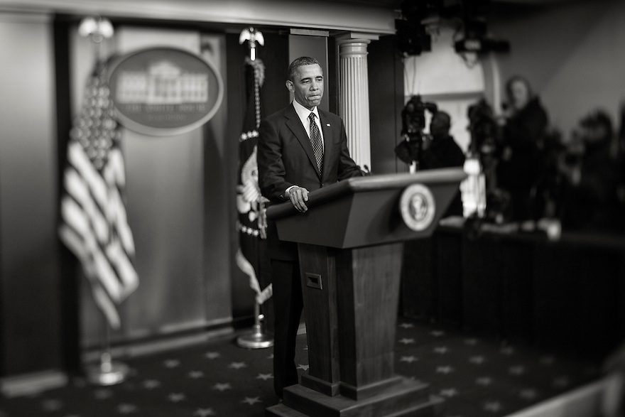 U.S. President Barack Obama speaks to the media about the sequester after a meeting with congressional leaders at the White House in Washington. Obama pressed the U.S. Congress on Friday to avoid a government shutdown when federal spending authority runs out on March 27th.