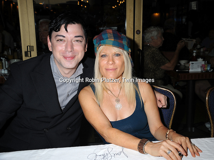 Malan Breton and actress Ilene Kristen..at The Broadway Cares/Equity Fights Aids 22nd Annual Broadway Flea Market on September 21, 2008 in Shubert Alley in New York City. ....Robin Platzer, Twin Images