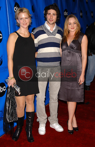 Marguerite MacIntyre with Matt Dallas and April Matson<br />