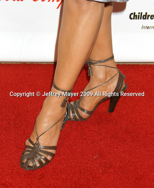 "BEVERLY HILLS, CA. - May 09: Shohreh Aghdashloo's shoes at the 3rd Annual ""Noche de Ninos"" Gala at the Beverly Hilton Hotel on May 9, 2009 in Beverly Hills, California."