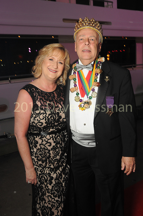 """Terry and Lawrence Estes at the San Luis Salute """"Space Pirates"""" VIP reception Friday February 24,2017. (Dave Rossman Photo)"""