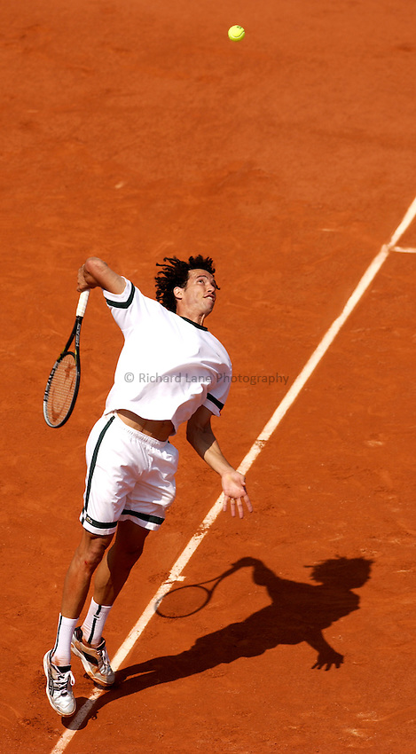 Photo. Jed Wee..French Open Tennis Championships, Roland Garros, Paris, France. 30/05/2003..Younes El Aynaoui.