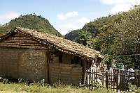 Typical rural Honduran house in the Lenca Indian village of La Campa, Lempira, Honduras.