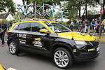 Lotto NL-Jumbo team Skoda Karoq before Stage 1, a 14km individual time trial around Dusseldorf, of the 104th edition of the Tour de France 2017, Dusseldorf, Germany. 1st July 2017.<br /> Picture: Eoin Clarke | Cyclefile<br /> <br /> <br /> All photos usage must carry mandatory copyright credit (&copy; Cyclefile | Eoin Clarke)