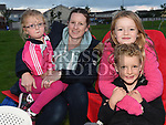 Sheila, Amy, Sophie and Conor Lynam at the outdoor cinema in Inse Bay Laytown. Photo:Colin Bell/pressphotos.ie