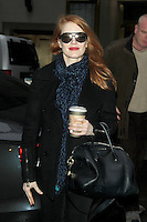 NEW YORK, NY - JANUARY 16: Jessica Chastain seen in on January 16, 2013 in New York City. Credit RW/MediaPunch Inc. /NortePhoto©